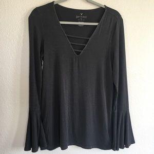 AEO Soft & Sexy Bell Sleeve Long Tee T-shirt